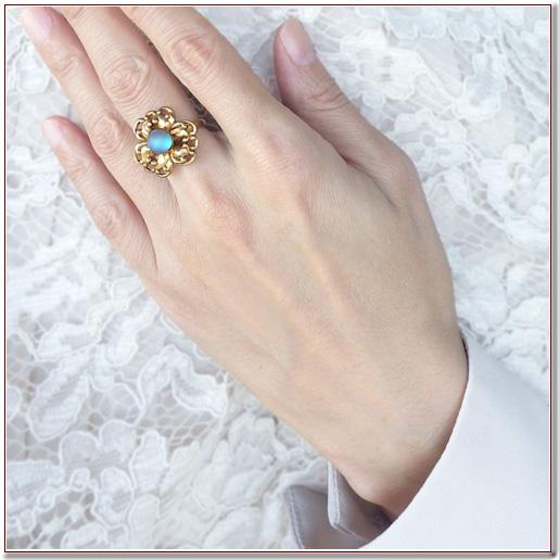 サフィレットガラスのリング