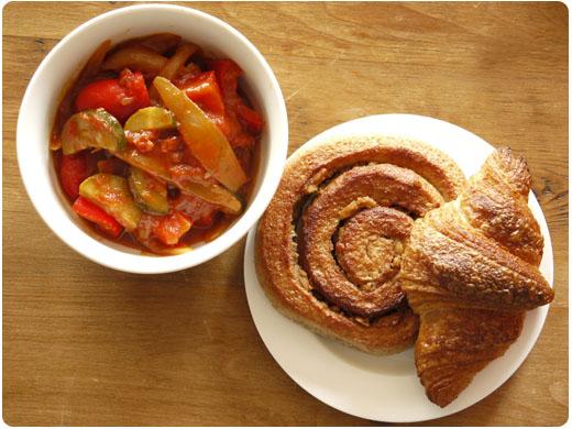 カポナータとパン