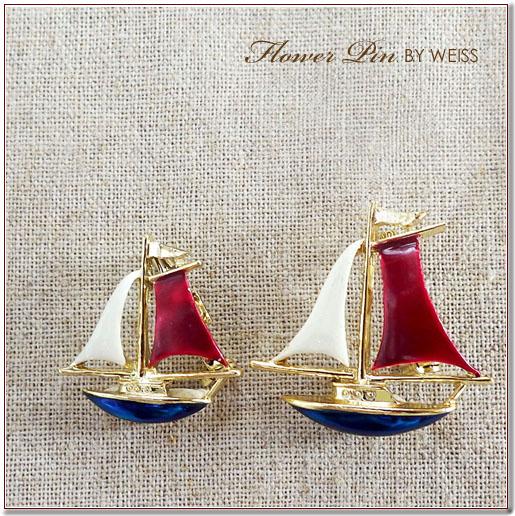 ゲーリーズのヨットのブローチセット
